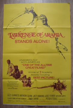 Lawrence of Arabia Film Poster One Sheet RR1971